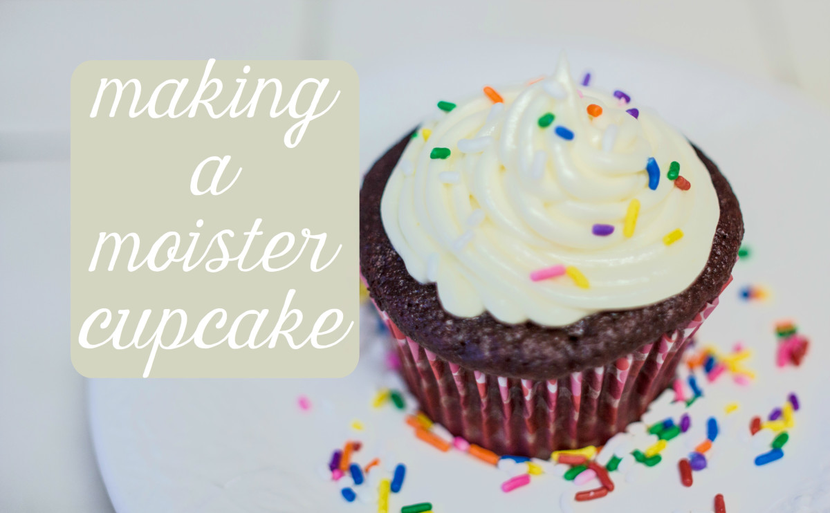 By substituting the right ingredients, you can make a perfectly moist cupcake.