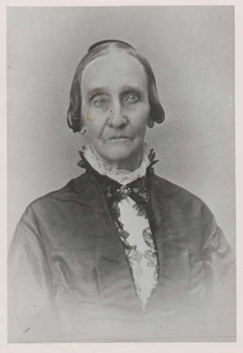 Amy Post, circa 1885.