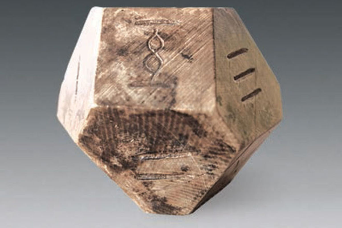 Archaeologists think this 14-sided die was used to play Liubo.