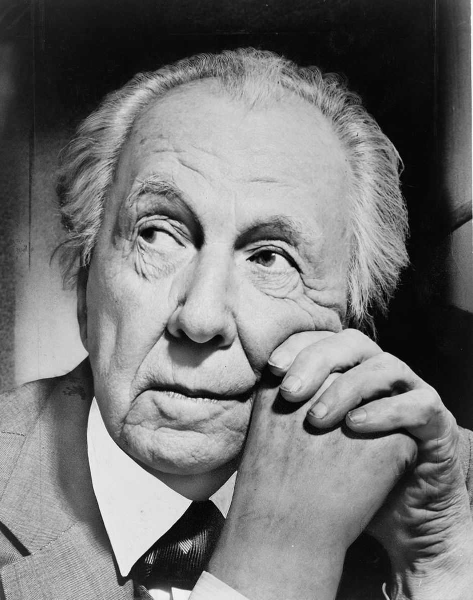 Portrait photograph of Frank Lloyd Wright, 1954. (New York World-Telegram and the Sun staff photographer: Al Ravenna.)