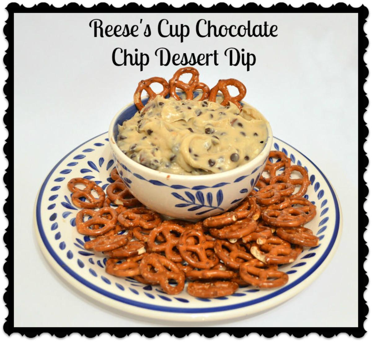 Reese's Peanut Butter Cup Chocolate Chip Cookie Dough Dessert Dip Recipe