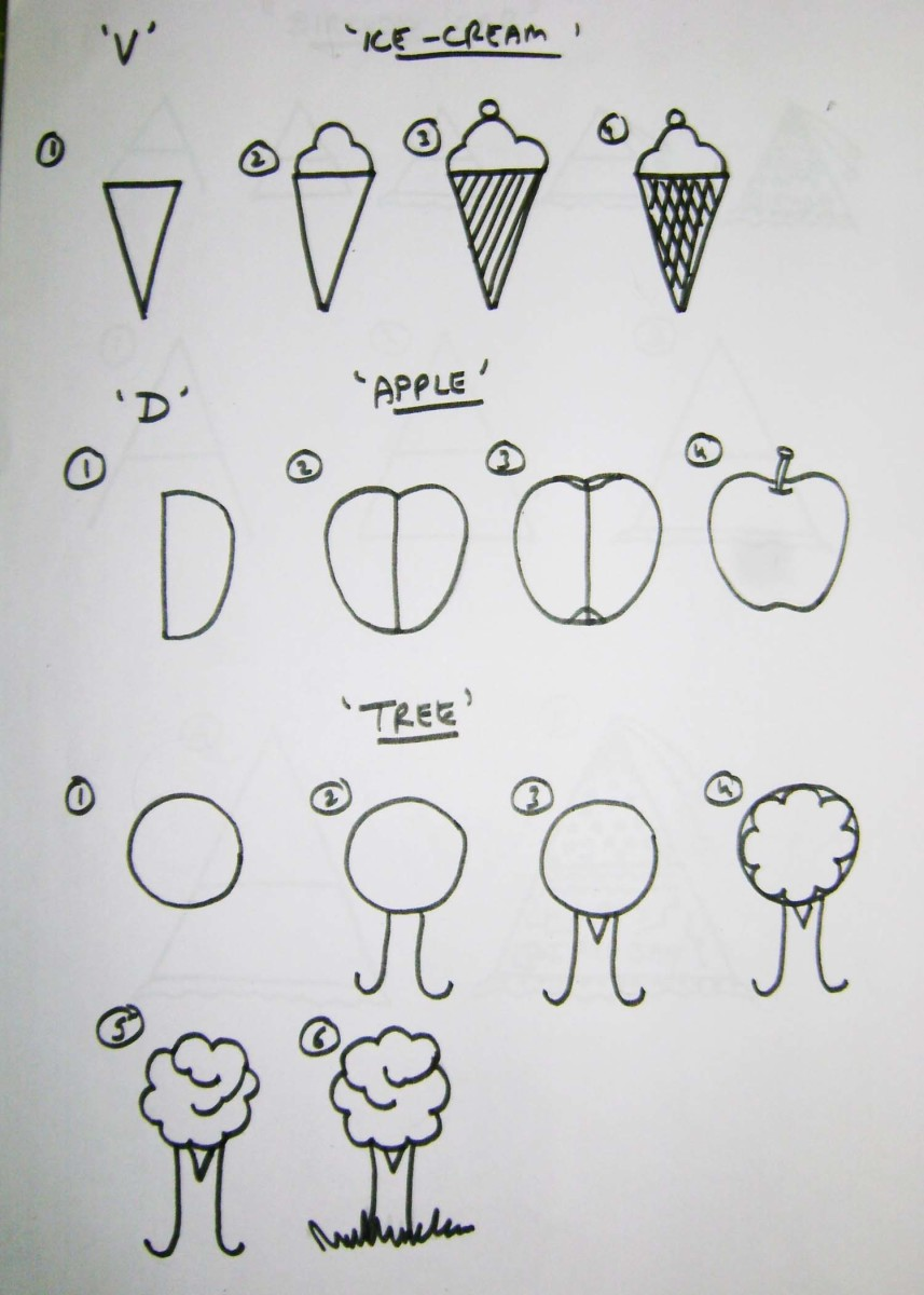 Simple Shape Drawing Simple Drawing For Kids Using