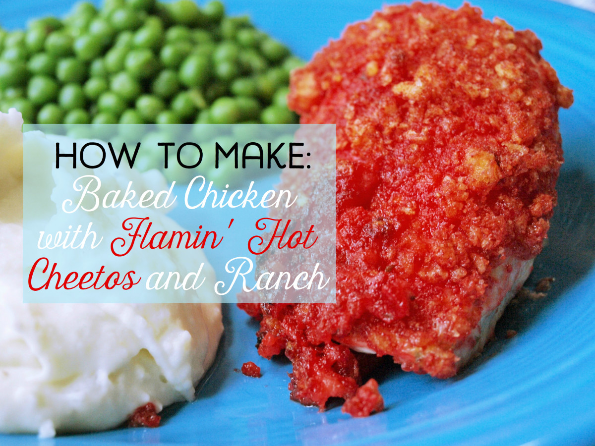 Baked Chicken with Flamin' Hot Cheetos and Ranch Dressing Recipe