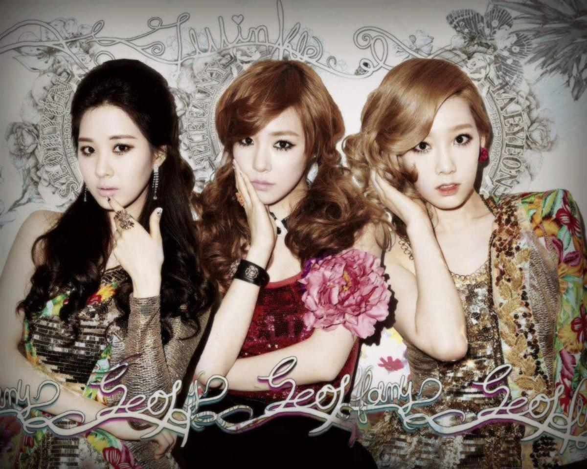 Seohyun, Tiffany, and Taeyeon from Girls' Generation (SNSD).