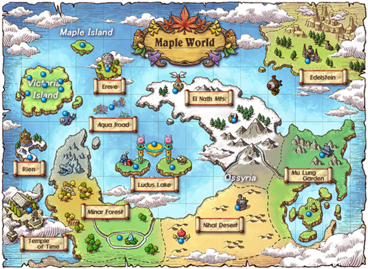 """The world map in """"Maplestory."""""""