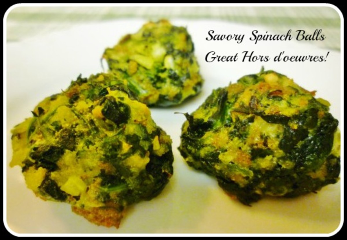 Spinach Balls ~ The Perfect Bite Sized Hors d'oeuvre