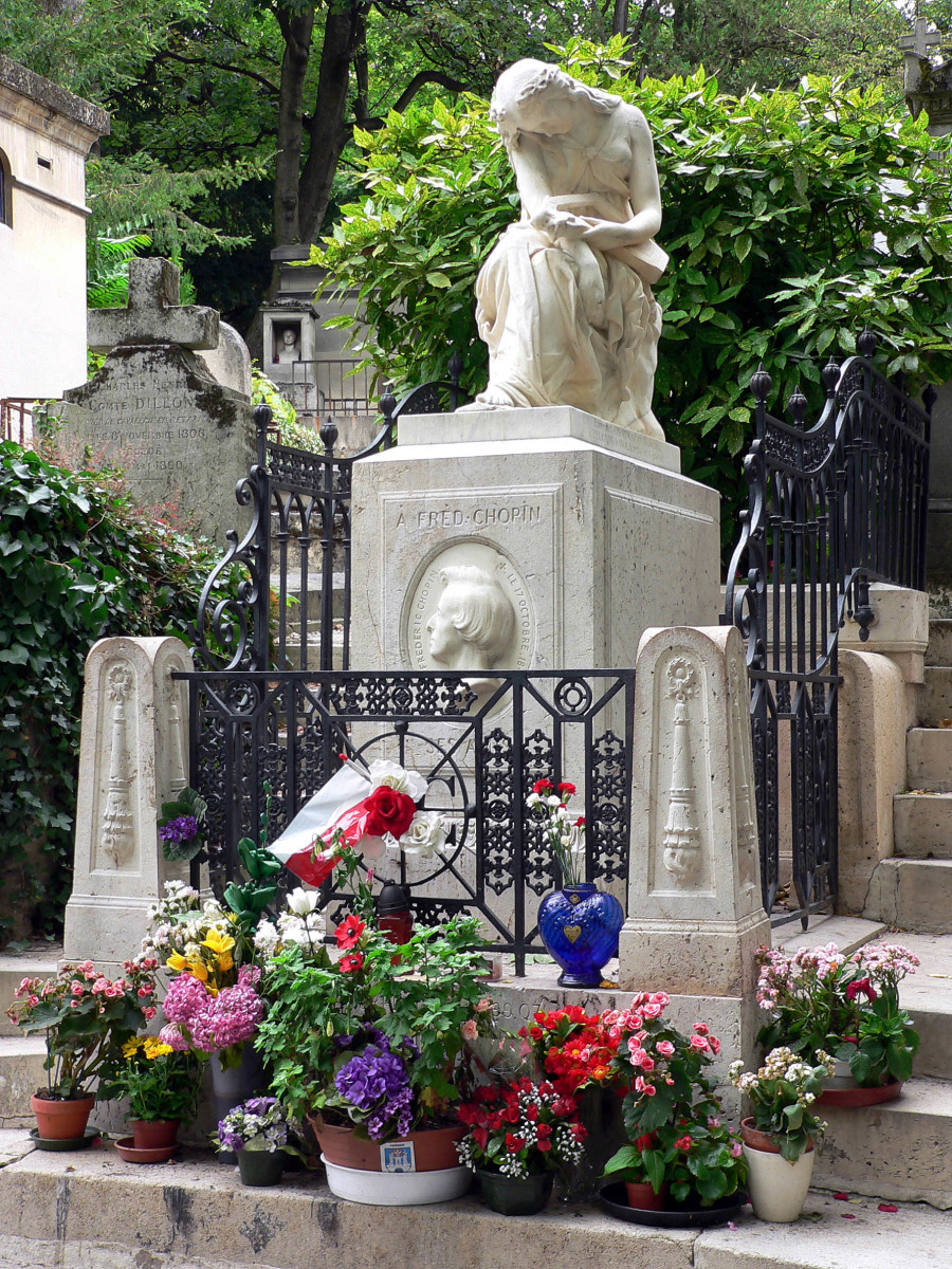 The grave of Frederic Chopin
