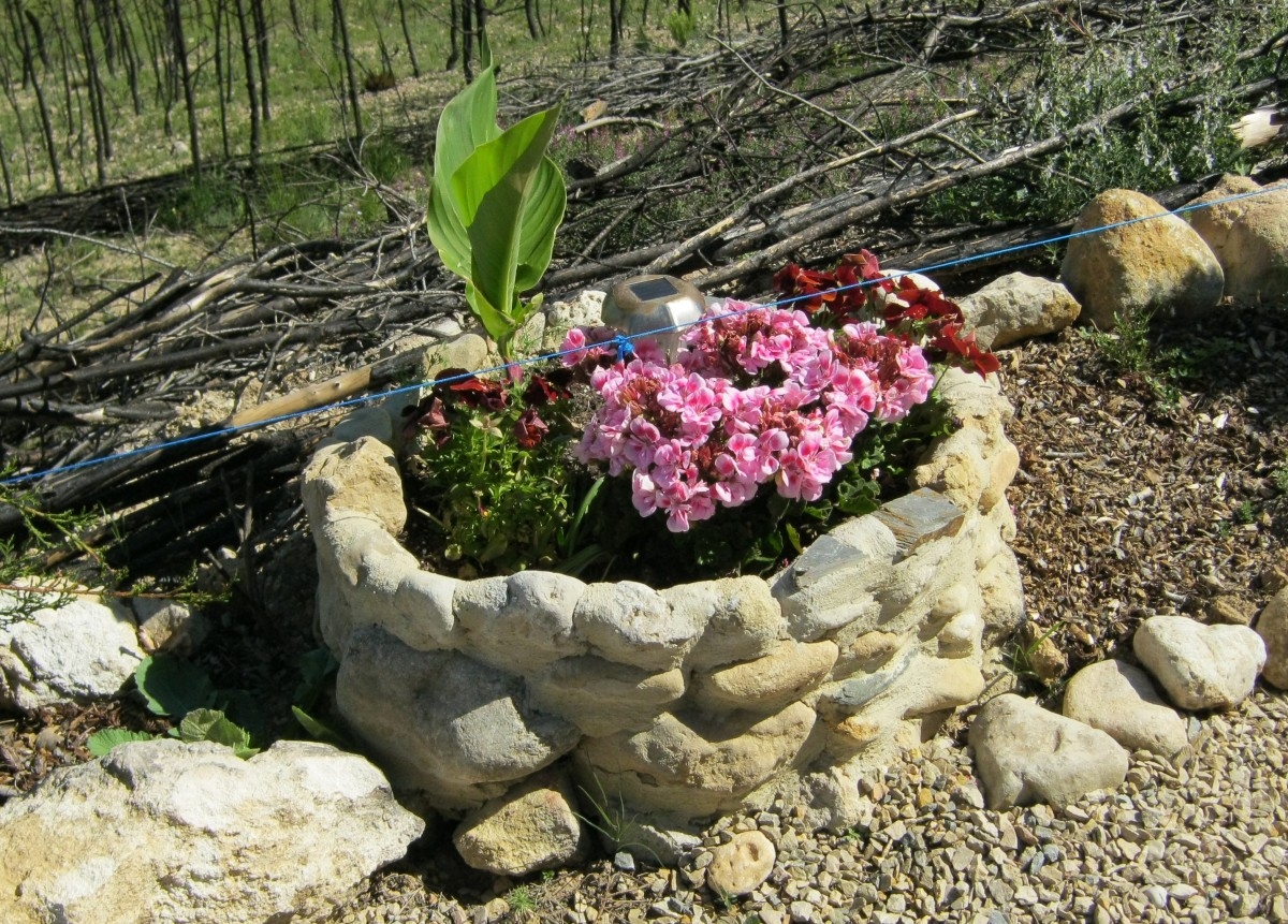 How to Build  Rustic Stone Planters for Your Garden