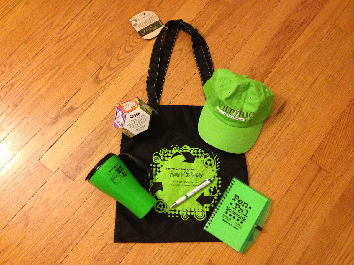 Promotional products can include imprinted bags, calendars, notepads, mugs, hats, pens and so much more!