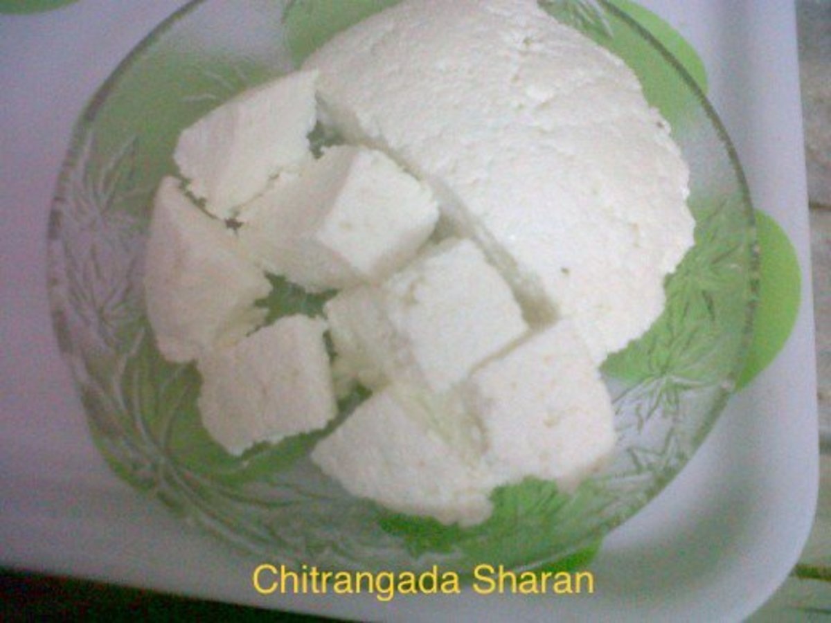 Home made paneer or cottage cheese