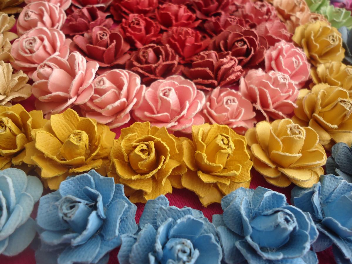 бумага ручной работы розы