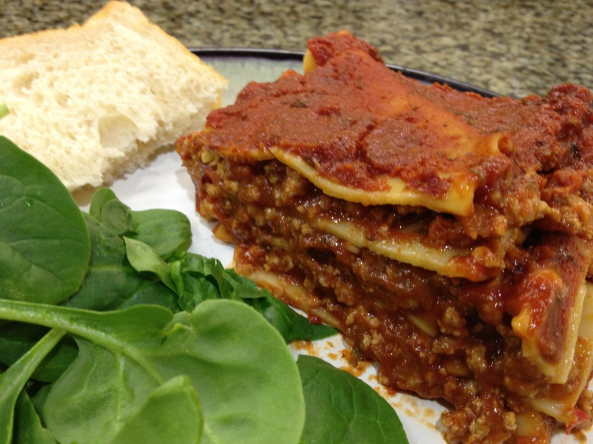 Easy cheeseless lasagna.