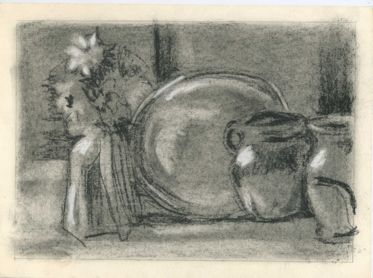 How To Draw A Still Life With Charcoal On Toned Paper Feltmagnet