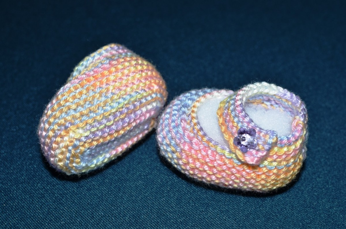 Basic Mary Jane Baby Booties Free Knitting Patterns with How-to Knit