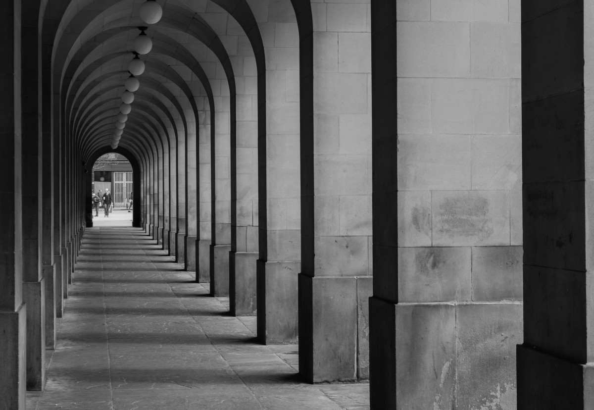 Manchester Town Hall Extension Colonnade at St Peter's Square