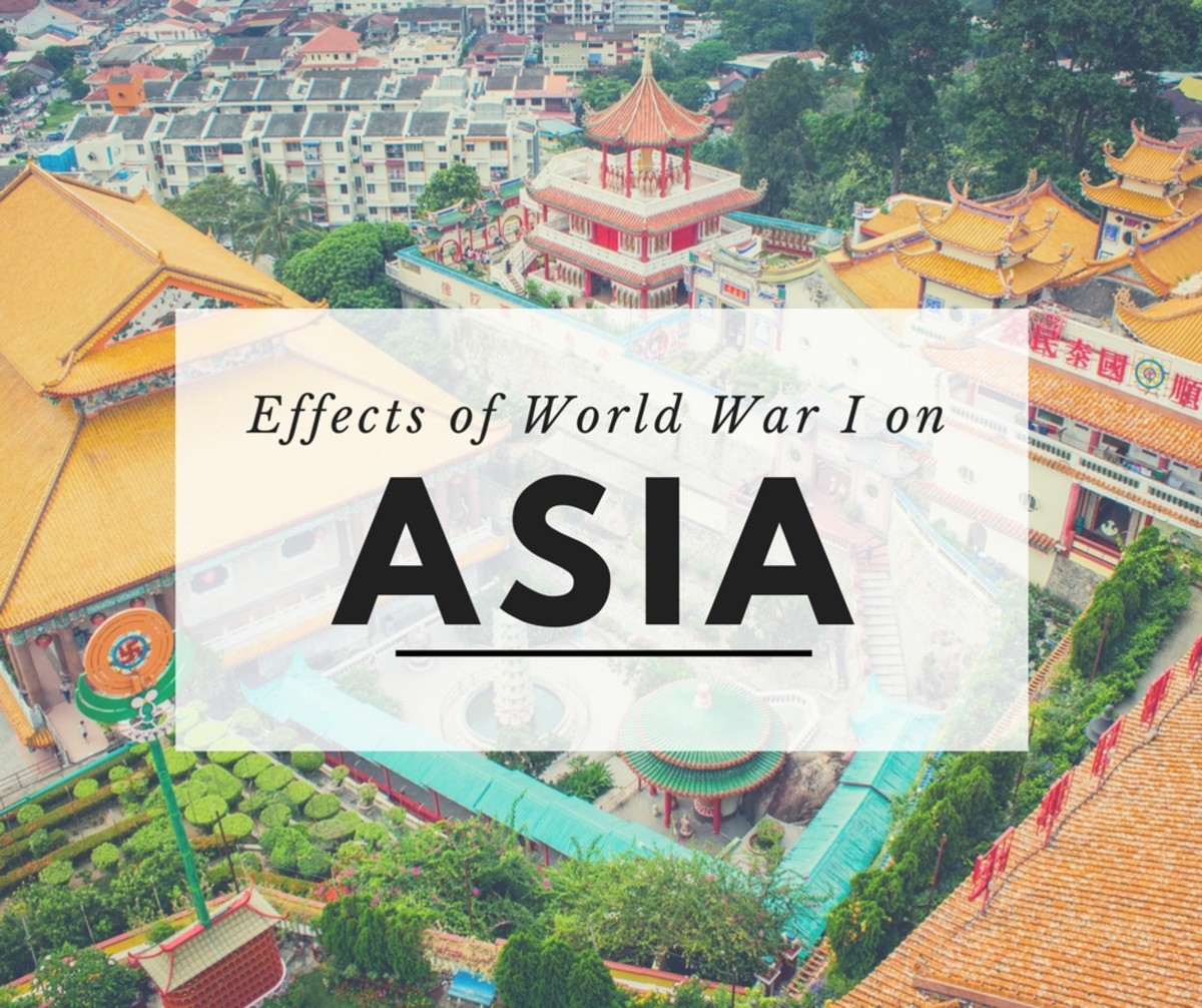 Compare and Contrast Essay on the Effects of  WWI on East and South Asia