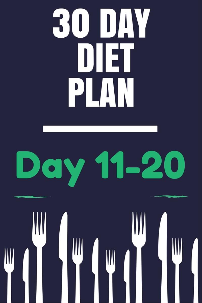 30 Day Healthy Diet Plan - Day 11-20