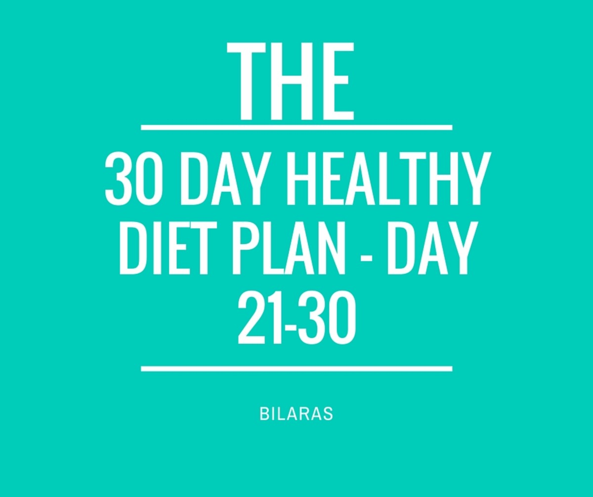 30 Day Healthy Diet Plan - Day 21-30