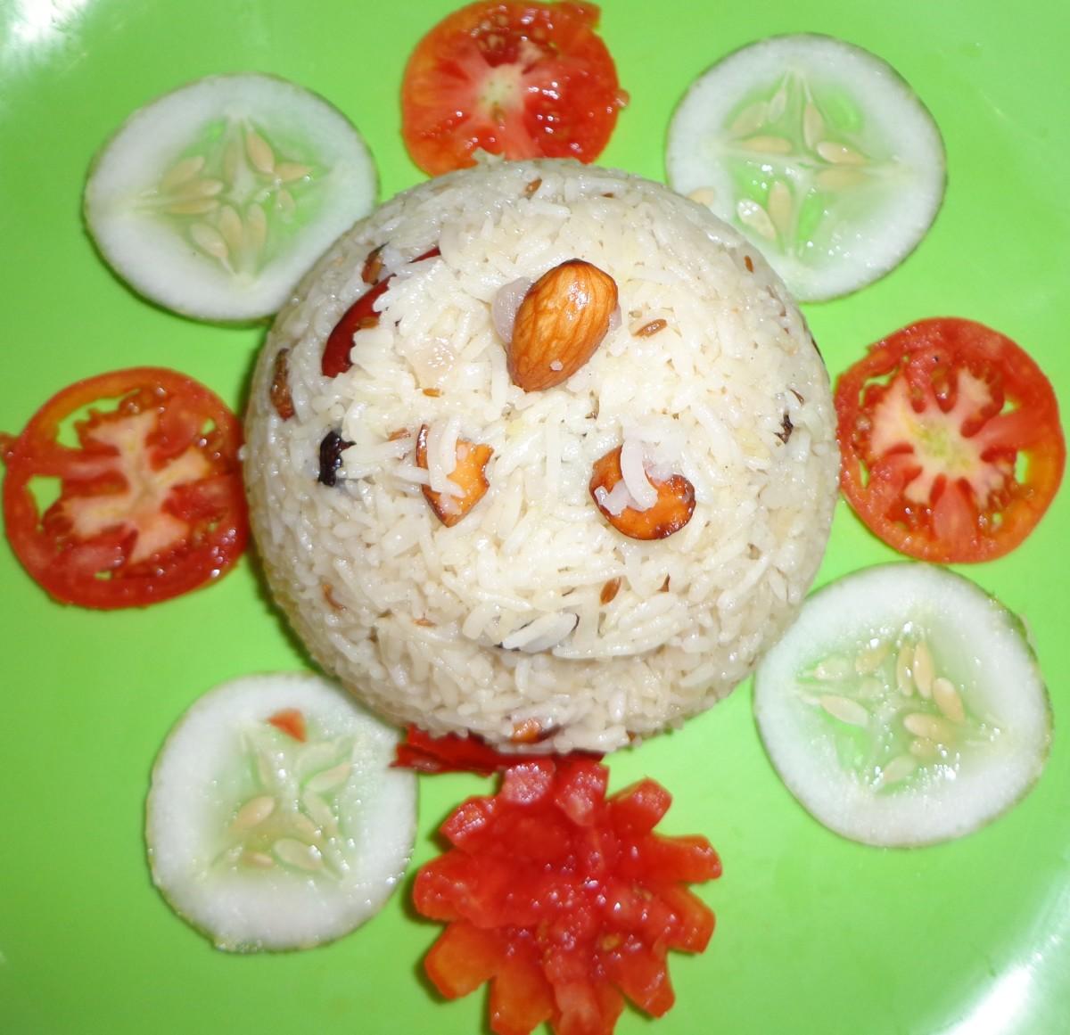 Tasty homemade ghee rice