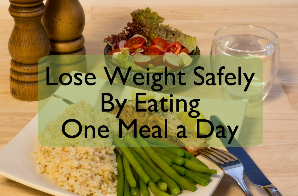 Eat one main meal a day and lose weight, but make it a nourishing meal with lean protein, green vegetables, and a moderate serving of carbohydrate.