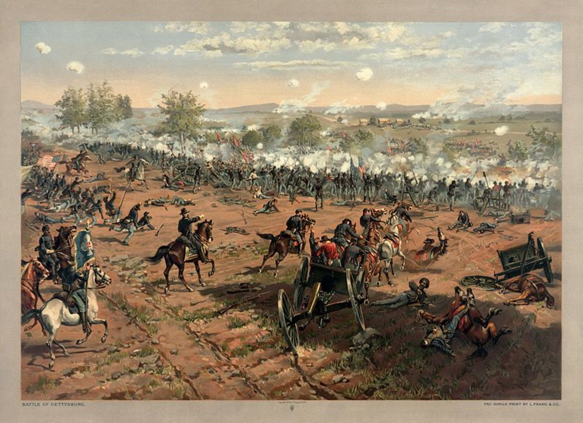 A scene from the battle that effectively ended the Confederacy's chances of victory.