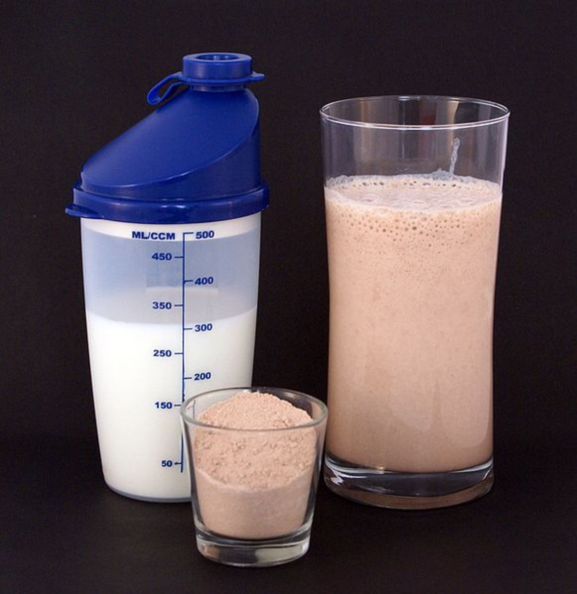 Is that a shot glass of whey protein?!
