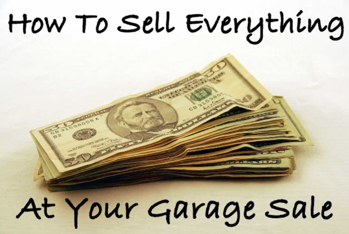 Garage sale leftovers are no fun! Learn how I sell everything at my garage sales and also  get free cleanup!