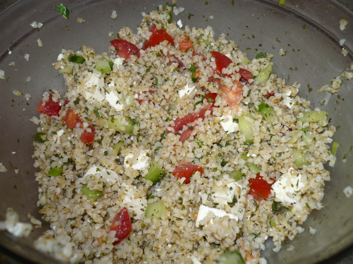 DIY Easy Healthy Recipe Greek Taboule Salad