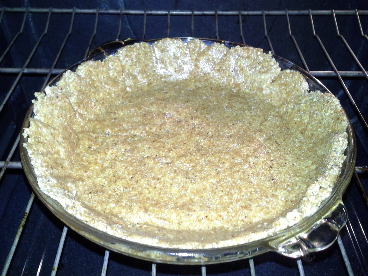 This flourless pie crust was made with almonds!