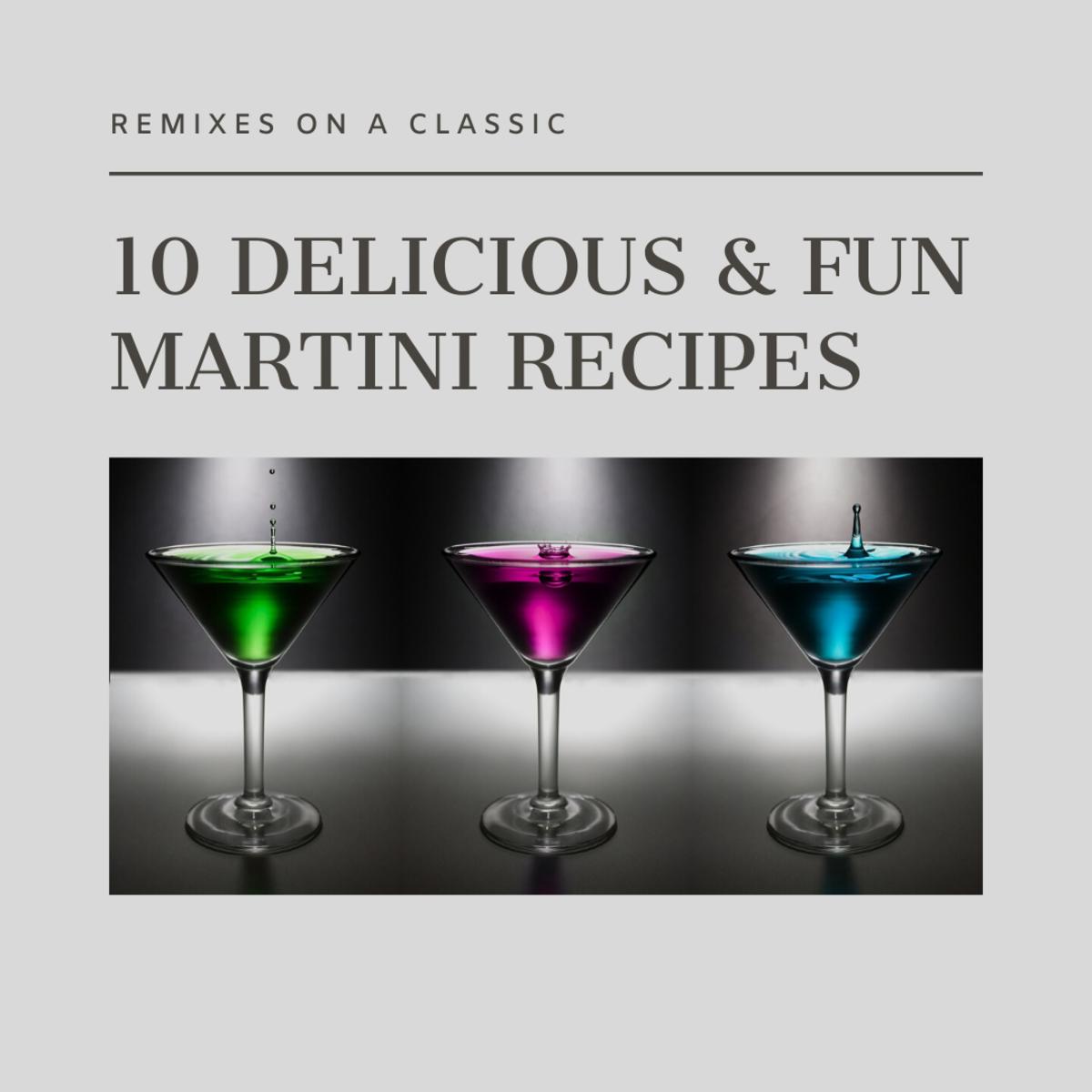 10 Great Flavored Martini Recipes
