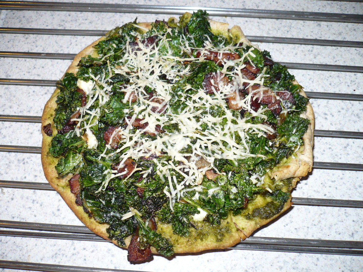 Kale and Feta Pizza - Perfect for a Night at Home