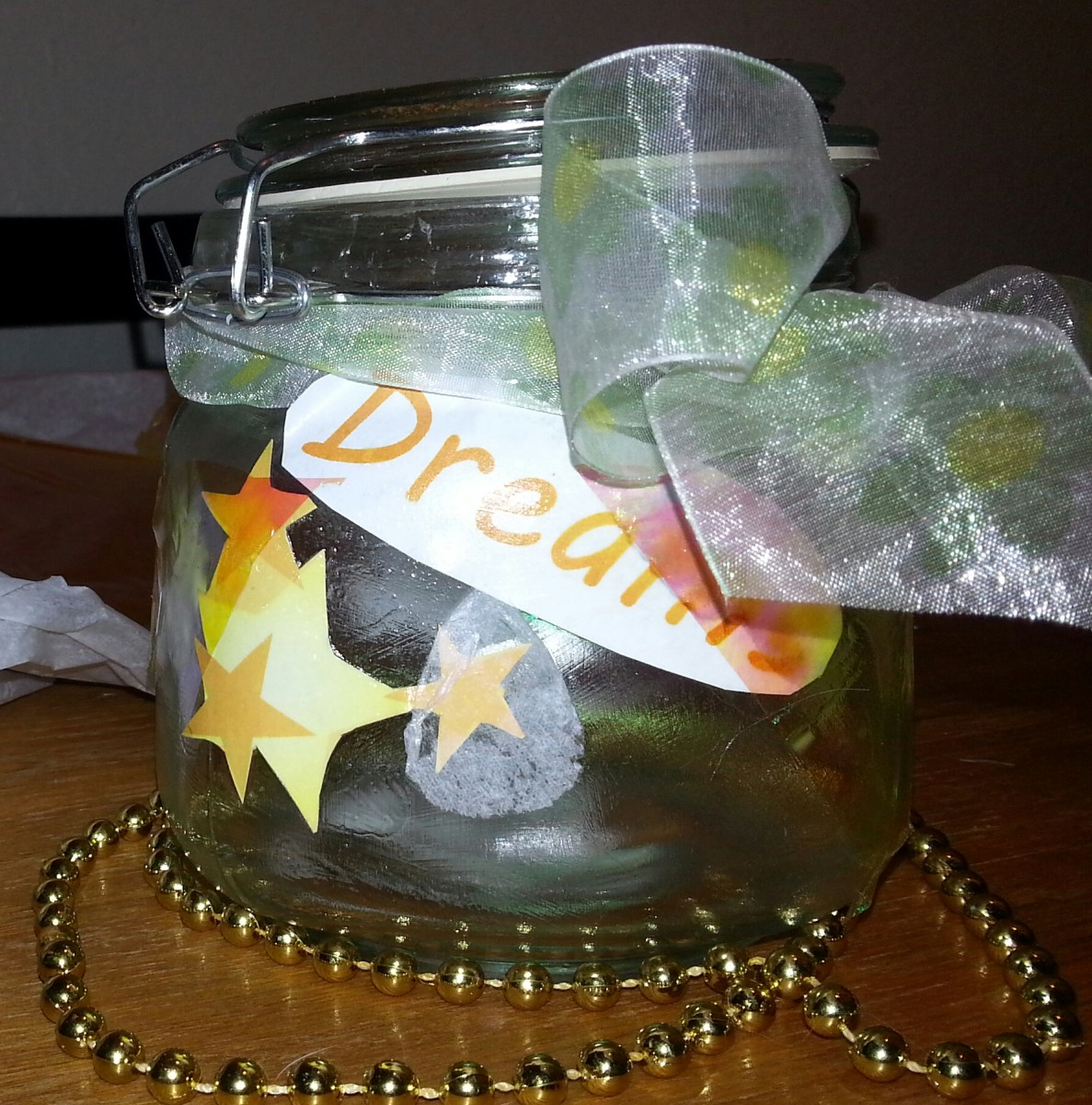 My first memory jar: Hopes, dreams, wishes inside!