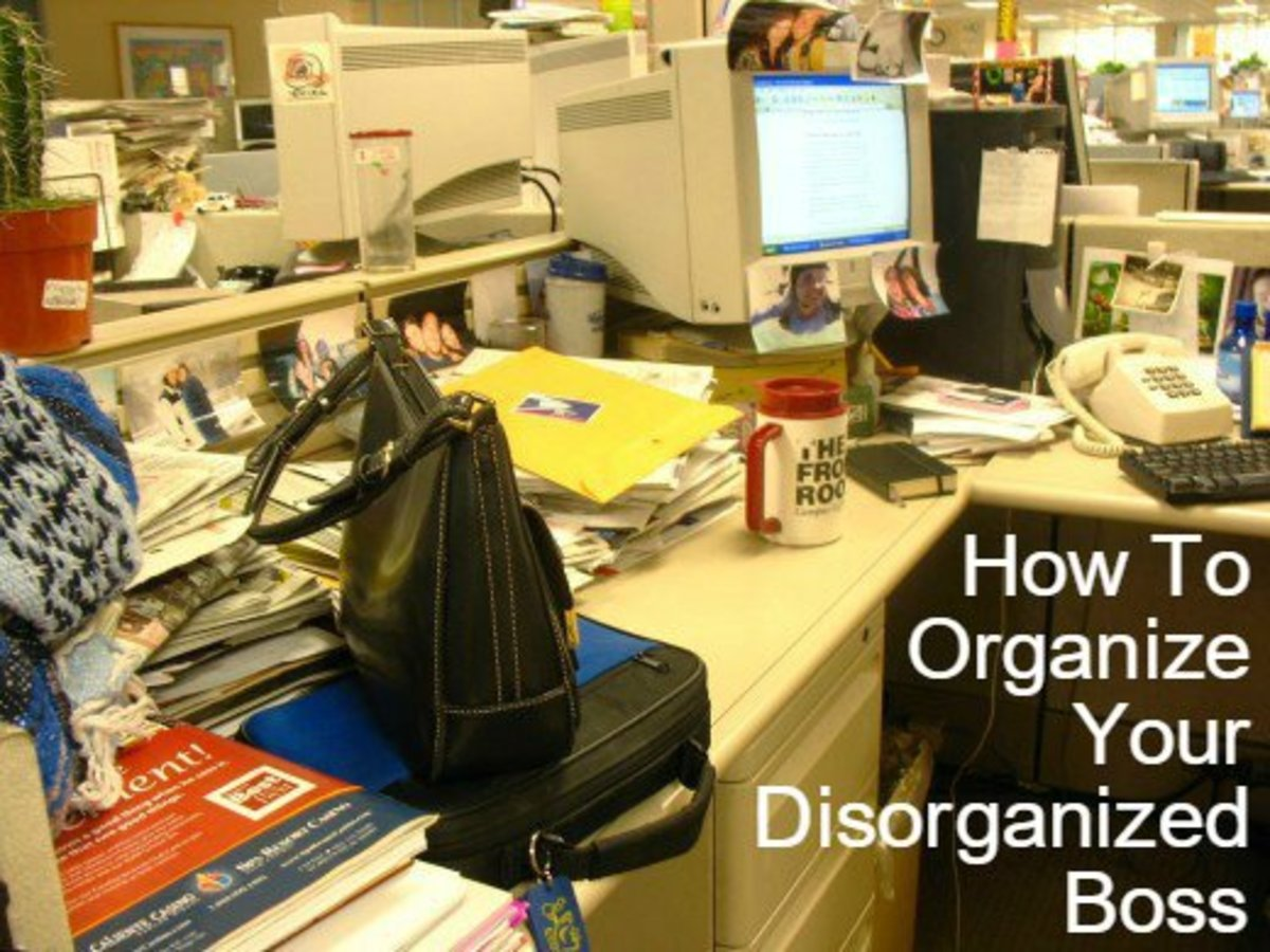 Helping your boss get organized will boost his or her professional image.  Help them get it done without being a show-off.