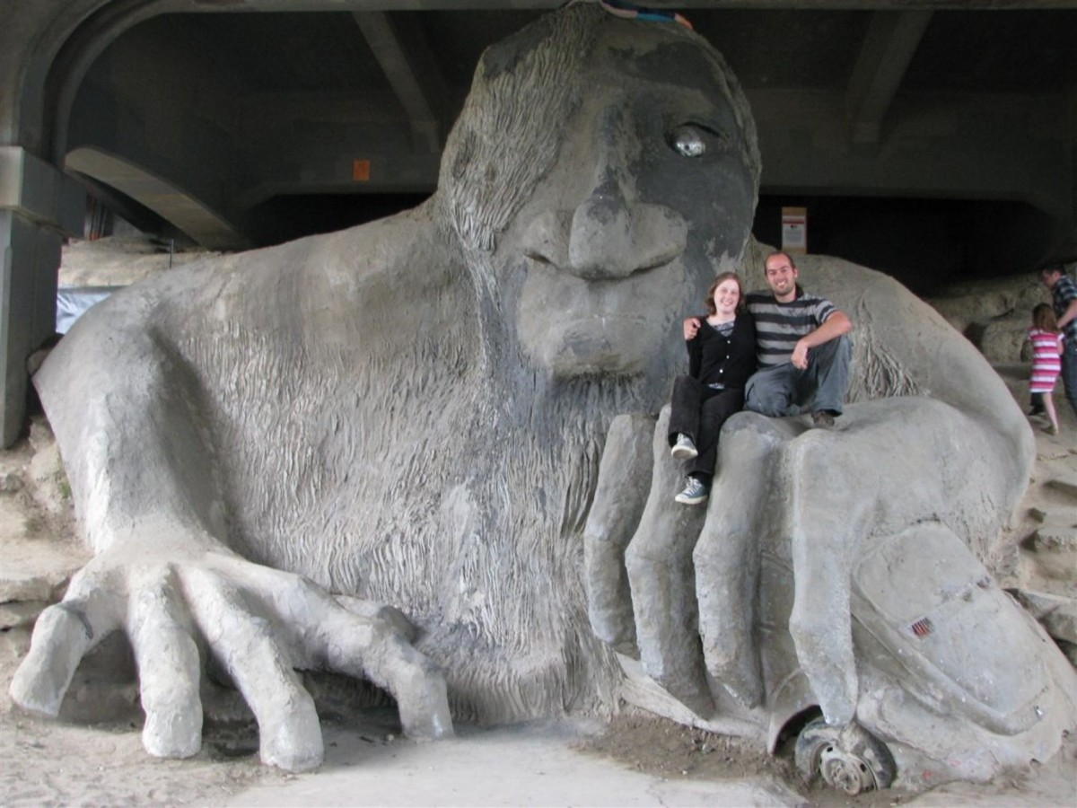Who hasn't wanted to sit on a giant troll under a bridge? This one's in Seattle.