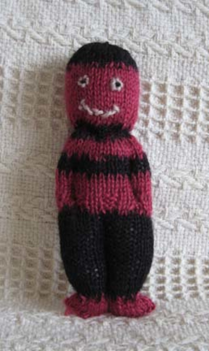 A comfort doll or duduza doll is an easy knitting project for charity.