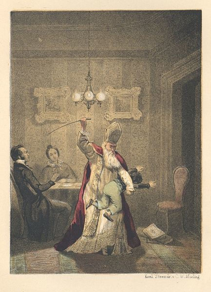 """Sint Nikolaas Vertellingen Voor de Jeugd"" C. vanSchaick (1849) If even Santa Claus takes a switch to a naughty child, can spanking be that bad?"