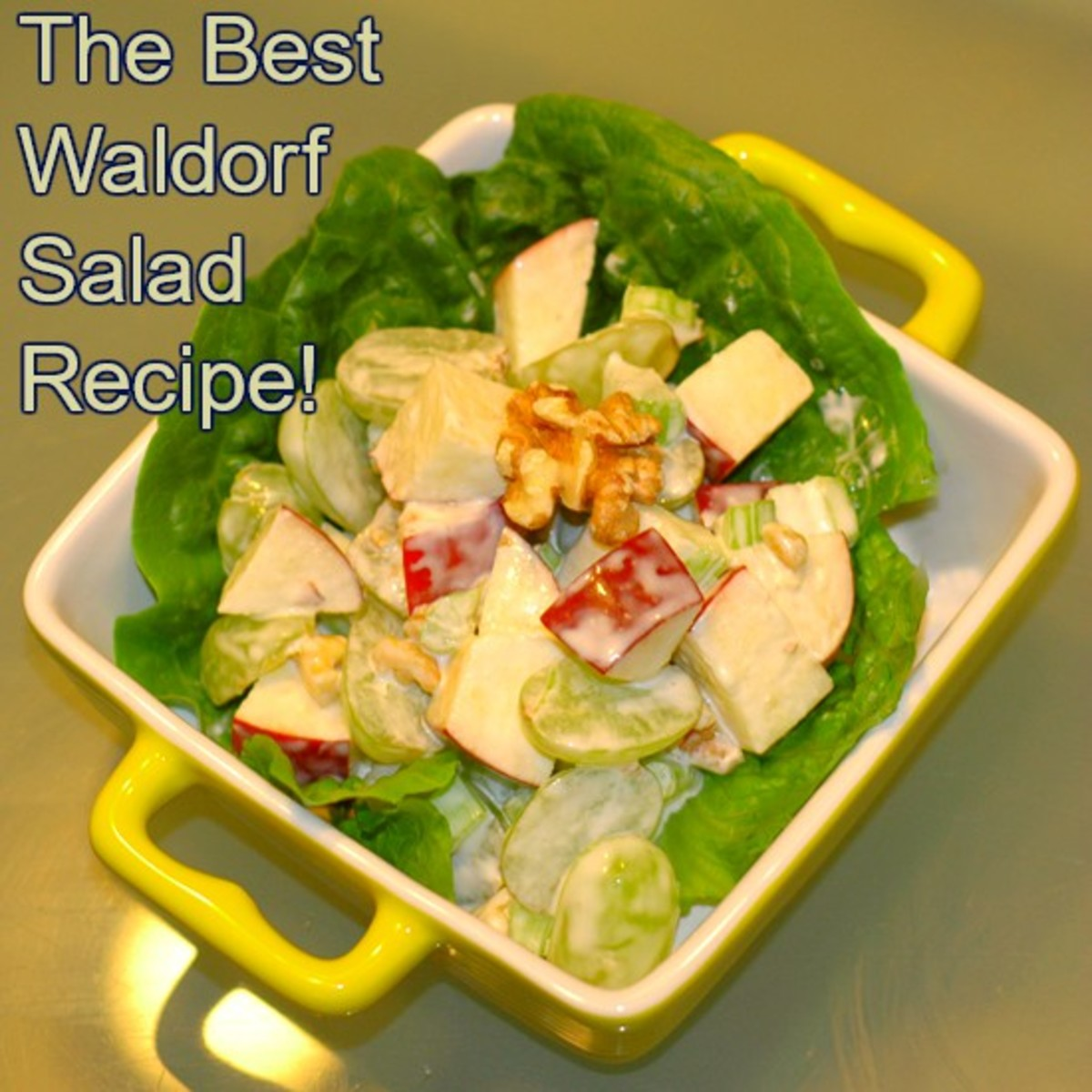 The Waldorf salad will add elegance to any occasion.