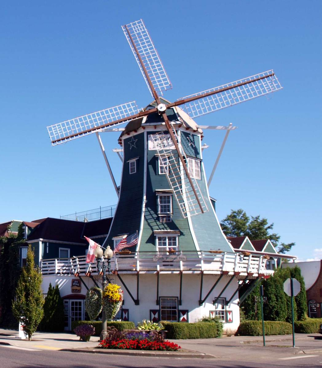 The Lynden Windmill Bed and Breakfast. You can book a room here. It is especially pretty during the Tulip Festival in April.