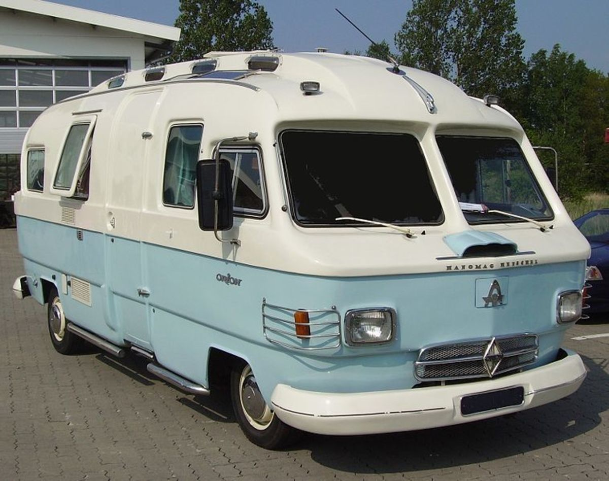 An early model RV - A Hanomag-Henschel Orion recreational vehicle