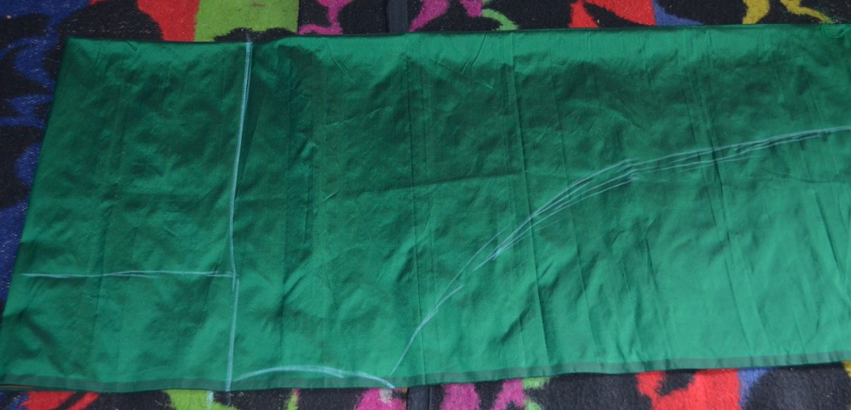 How to Make an Umbrella Pattern Anarkali Churidar: Cutting and Stitching