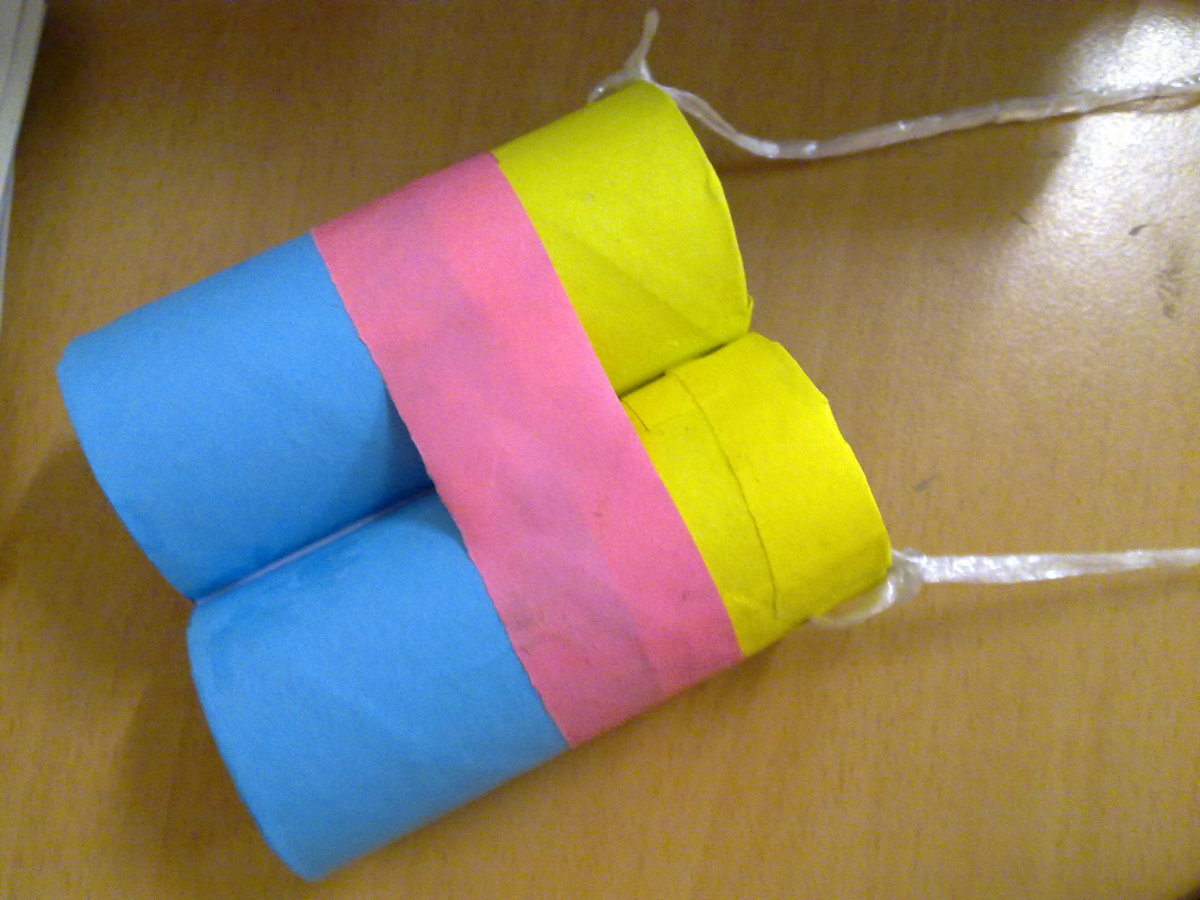 Earth day crafts toilet paper roll binoculars craft for kids for Easy things to make out of paper for kids