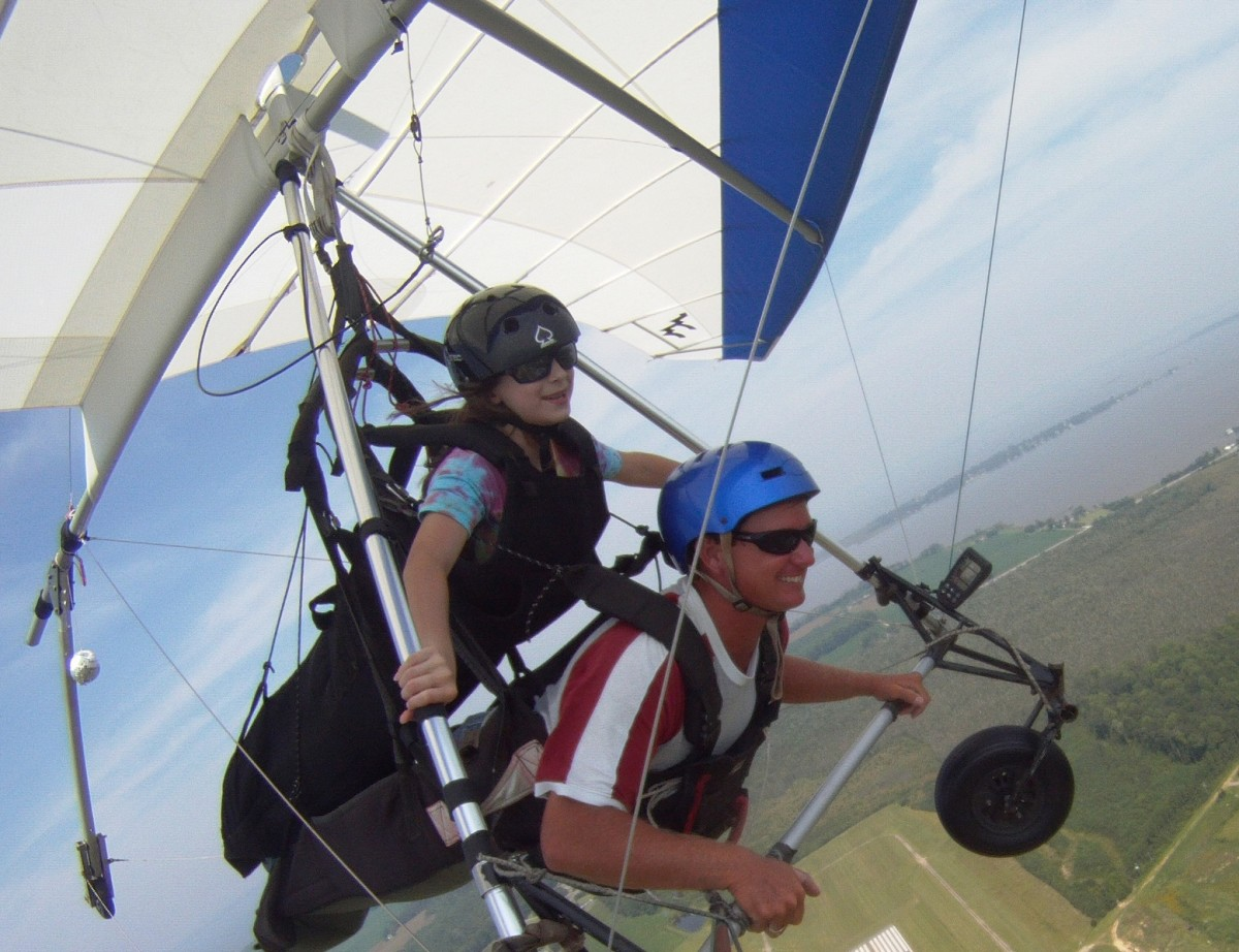 "At age 11, my daughter got to experience hang gliding.  What an adventure!  Do you see her ""Dauntless"" quality showing?"