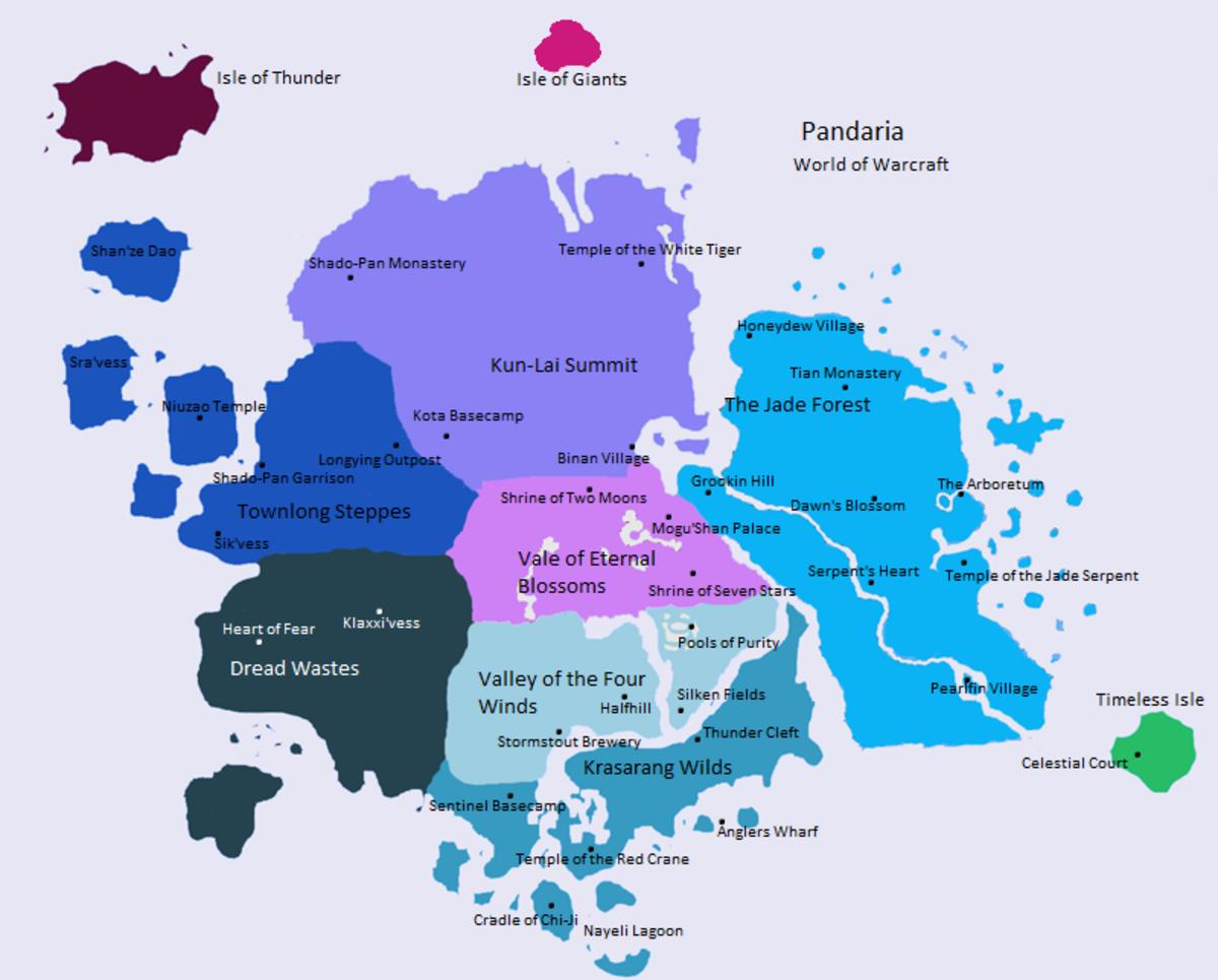 Map of Pandaria
