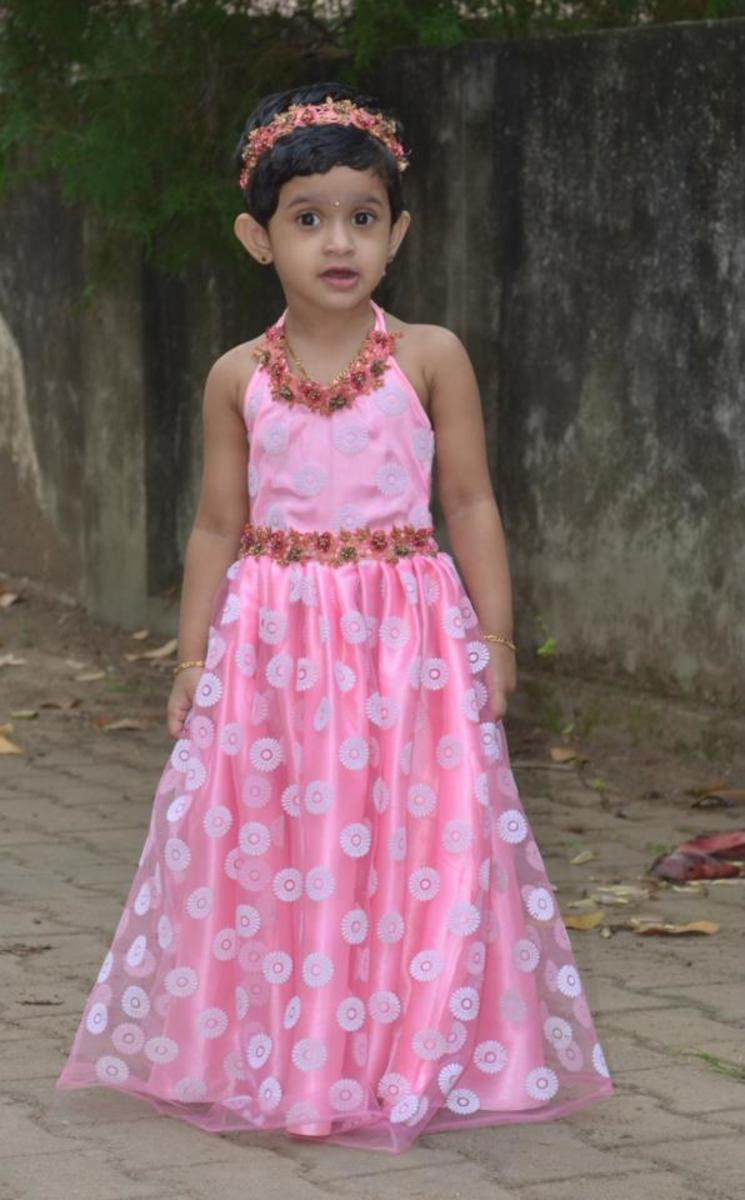 aa446c787f How to Stitch a Designer Long Frock for Your Child: Pattern-Cutting ...
