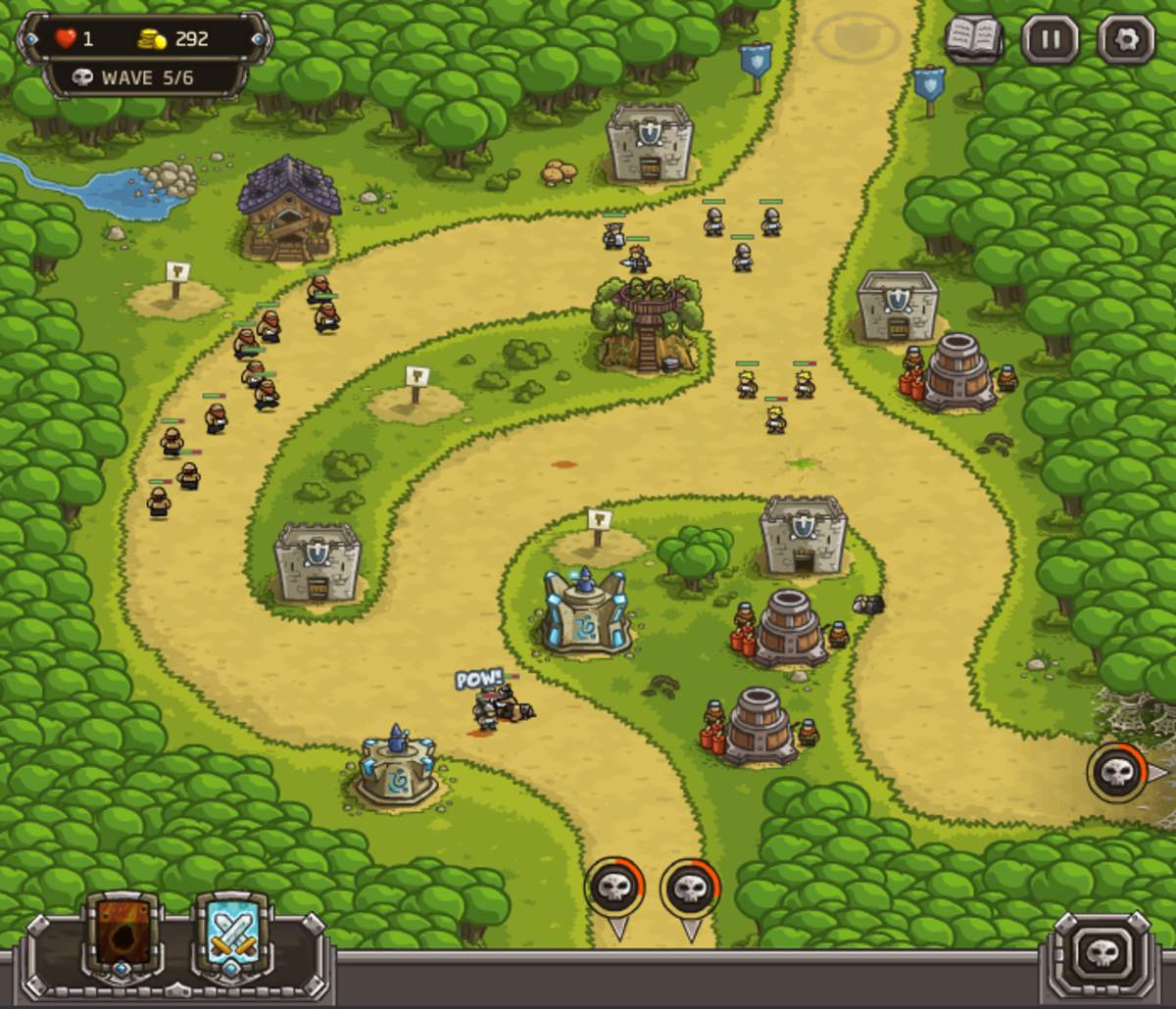 Kingdom Rush walkthrough: Level 5 - Silveroak Outpost