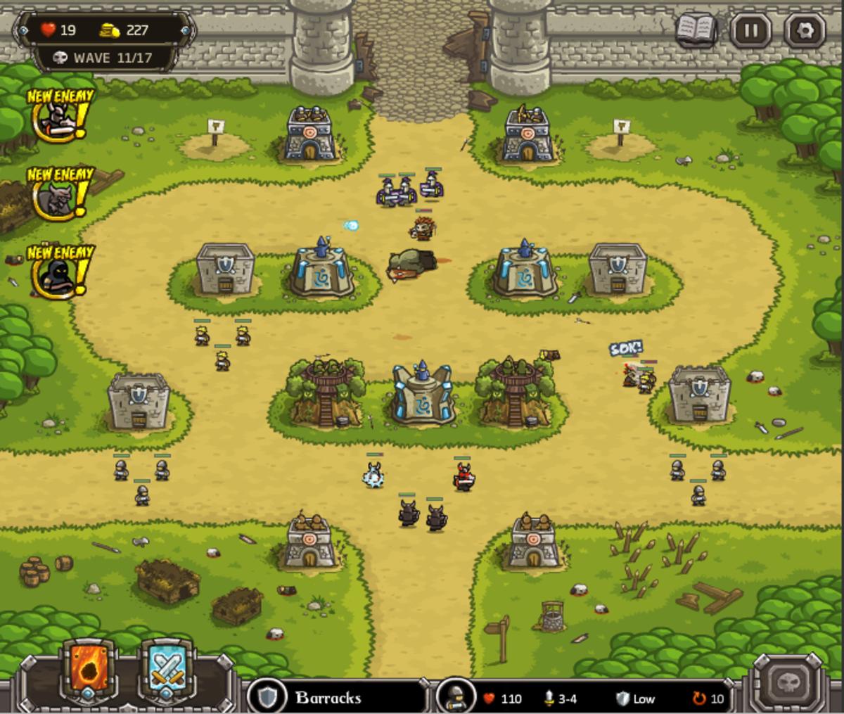 Kingdom Rush Walkthrough: Level 6 - The Citadel