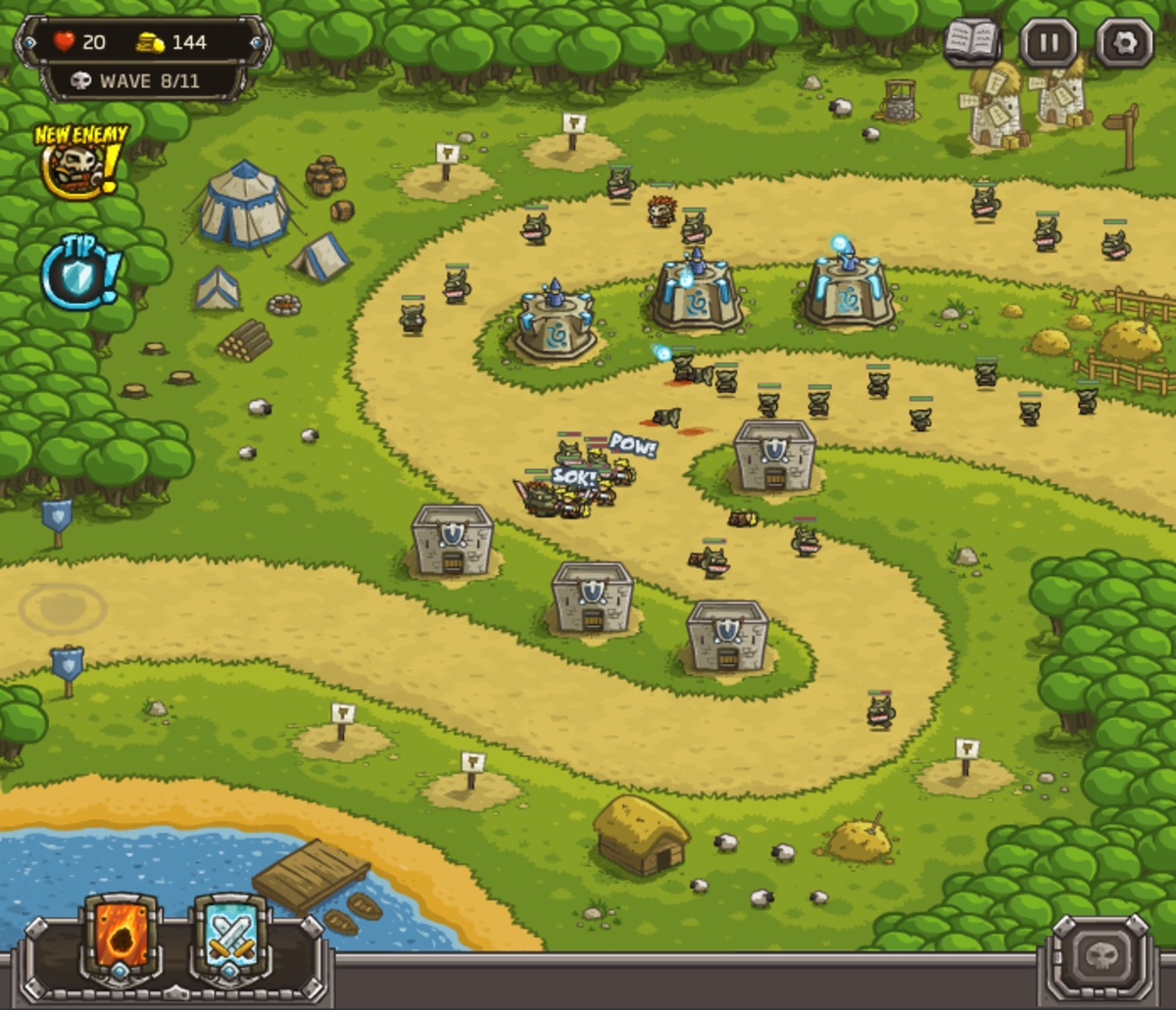 Kingdom Rush walkthrough: Level 3 - Pagras