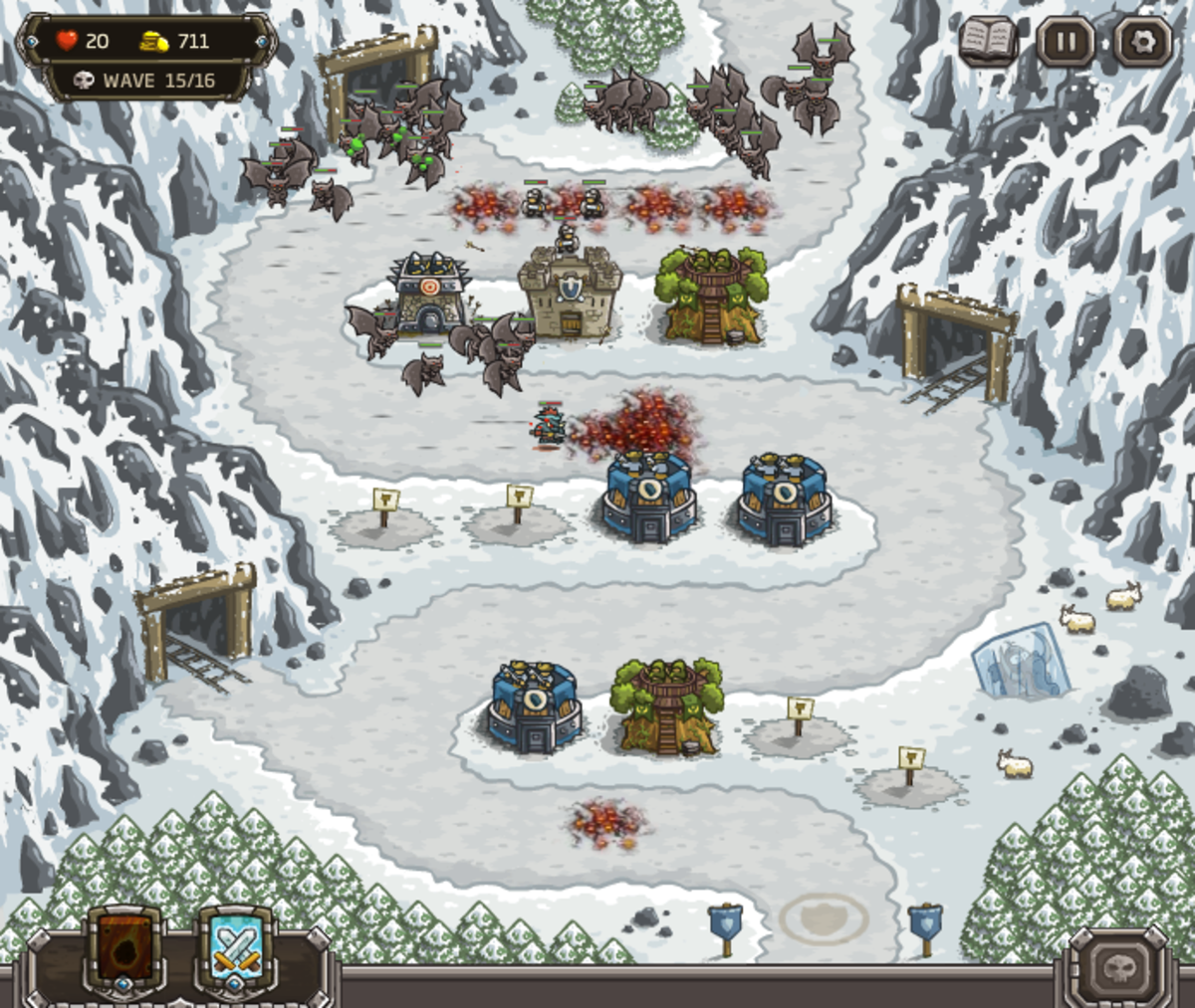 Kingdom Rush Walkthrough: Level 7 - Coldstep Mines