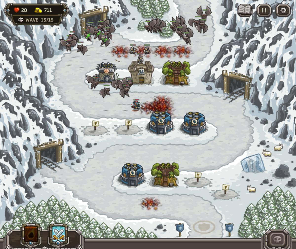 Kingdom Rush Walkthrough: Level 7 - Coldstep Mines