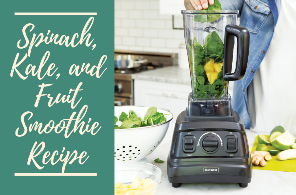 Spinach, Kale, and Fruit Smoothie Recipe
